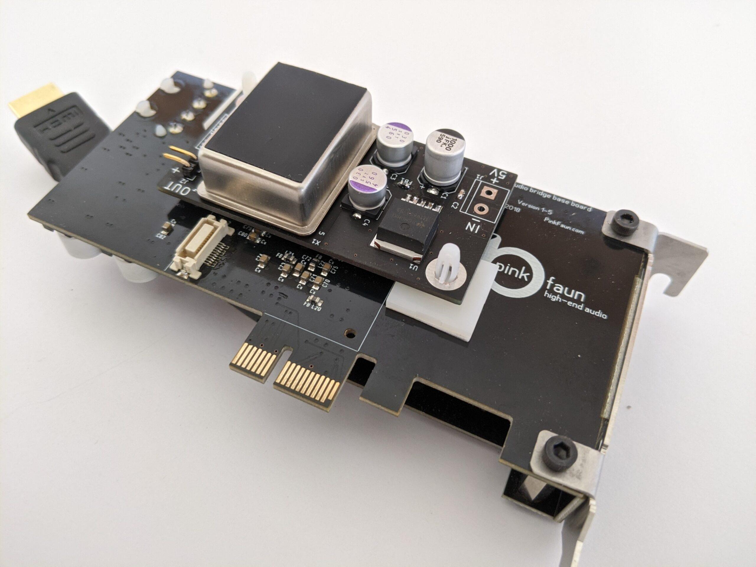 Audiophool OCXO upgrade audio-card